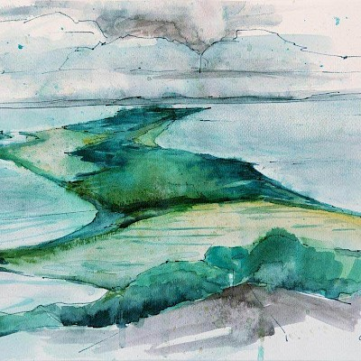 Hiddensee, 23x32cm, Aquarell, 2014